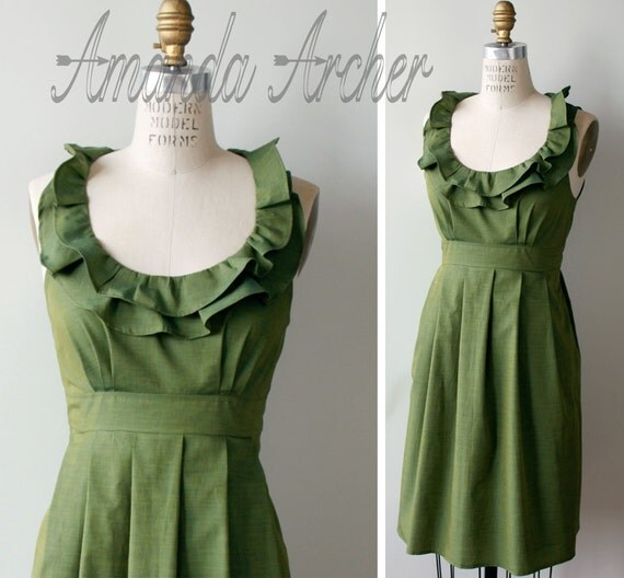 RESERVED for APRIL 5 bridesmaid dresses, Green Teal, DEPOSIT 12/15