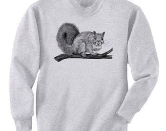 Squirrel Cross My Heart Art Men's Sweatshirt Small - 2XL