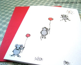 The Mouse and the Red Balloon Note Card