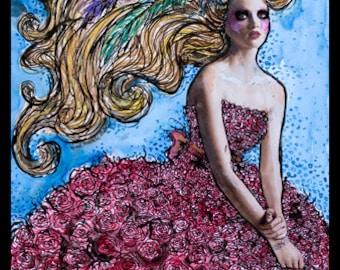 The Rose Dress Fine Art Print