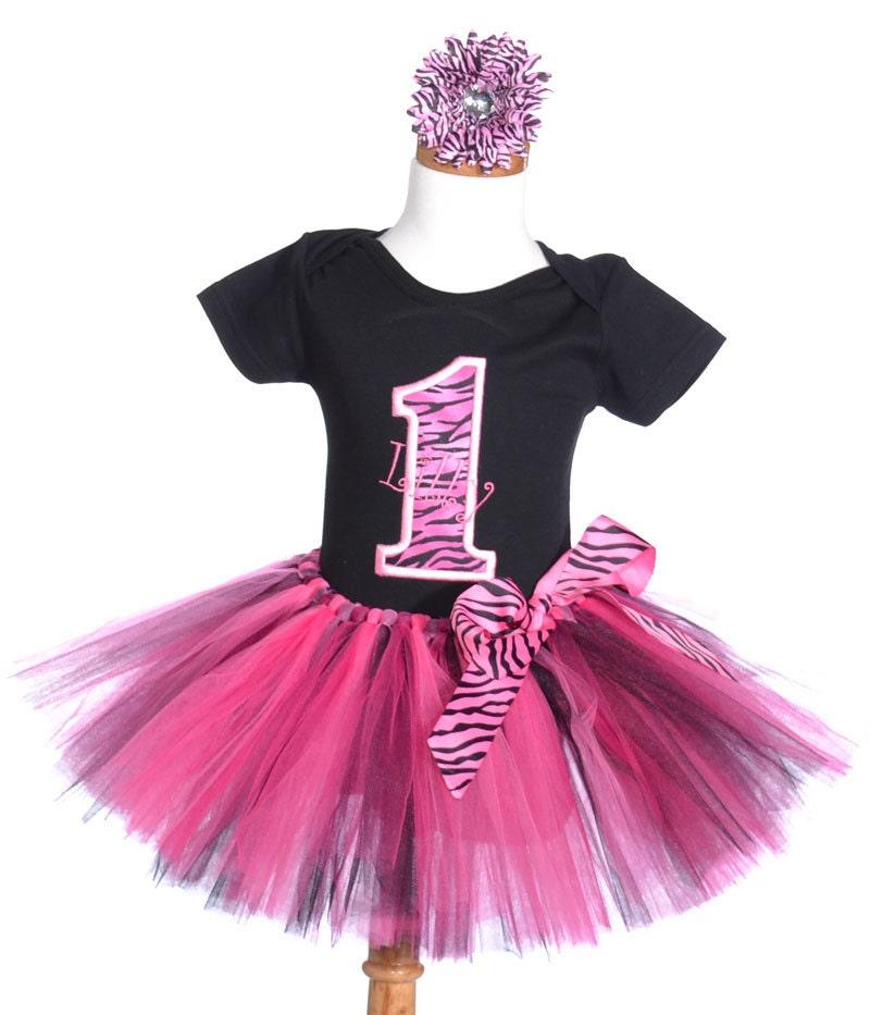 Baby Girls First Birthday Outfit Zebra 1st Birthday Set