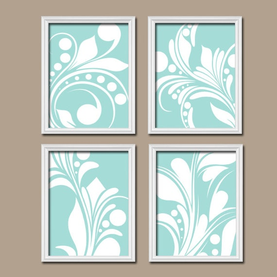 Bathroom Wall Decor Etsy : Aqua bathroom wall art canvas or prints by trmdesign