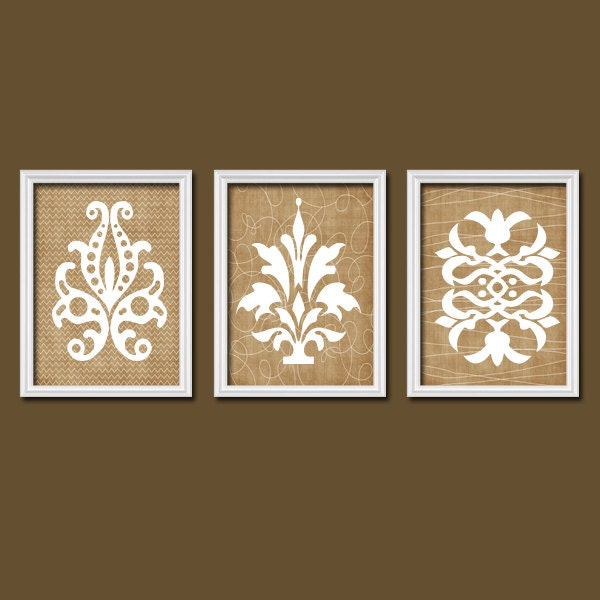 Prints For Wall Decor : Damask wall art canvas or prints french country by trmdesign
