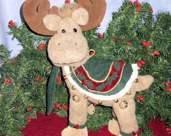 Primitive Moose Doll Christmas Decoration