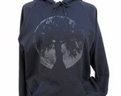 Glow in the dark Moon Oak Goddess hoodie unisex size S M L XL or 2XL
