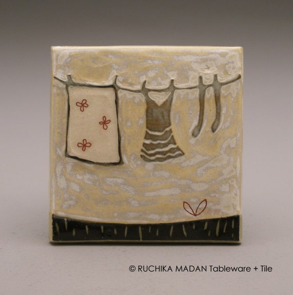 Clothesline- 3x3 tile- Ruchika Madan