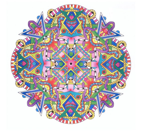 Coloring PAGES -Shapes Mandalas -  Set of 10