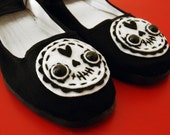 Day of the Dead Shoes - Sugar Skull Mary Janes - Size 7