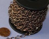 5 ft of Antiqued Copper Chain high quality hammered soldered chain 5X8mm links