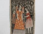RESERVED everlasting - a larger embroidery artwork - original artwork