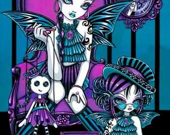 Charmed Magical Sister Rag Doll Fairy Canvas ACEO