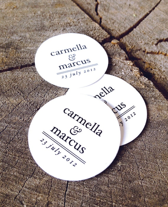Round Wedding Gift Tags : Wedding Favor Tags - Round Thank you tags - Circle Wedding Gift Tags ...