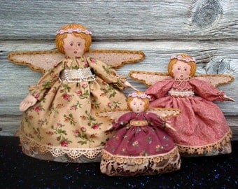 CF209 Potpourri Angels - PDF ePattern Angel Cloth Doll Pattern