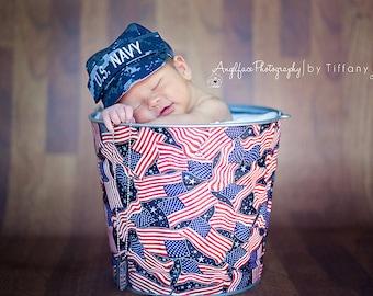 Daddys Little Solider Flag Galvanized Beach Bucket Metal Pail Newborn Baby Photo Prop