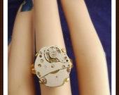 steampunk watch movement ring
