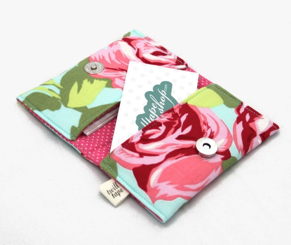 Roses Card Case- business card holder, credit card case, wallet, id case