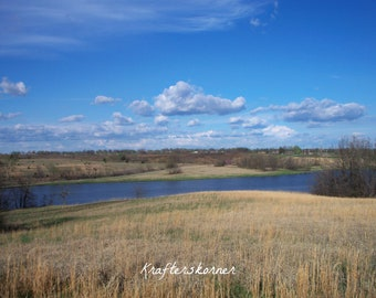 Photo Print 4 x 6, 5 x 7, or 8 x 10  Lake and Grassland