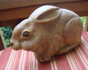 Vintage Brown Wind Up Rabbit Toy Very Detailed