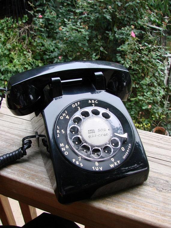 Vintage Black 1970s Era Bell South Rotary Dial Desk Phone