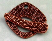 TierraCast Large Spiral Toggle Clasp, Antique Copper TC16