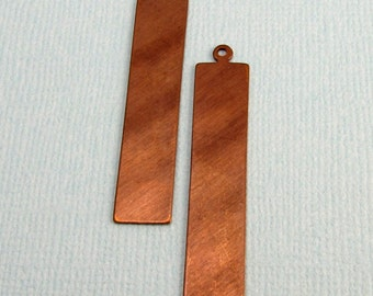 Vintaj  Brass Rectangle Tag Blank, 41 MM, 2 Pieces, V100