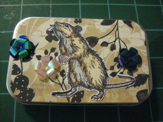 Rats and Roses Tampon Case, Perfect for Business Cards or Whatever You Choose to Keep Inside