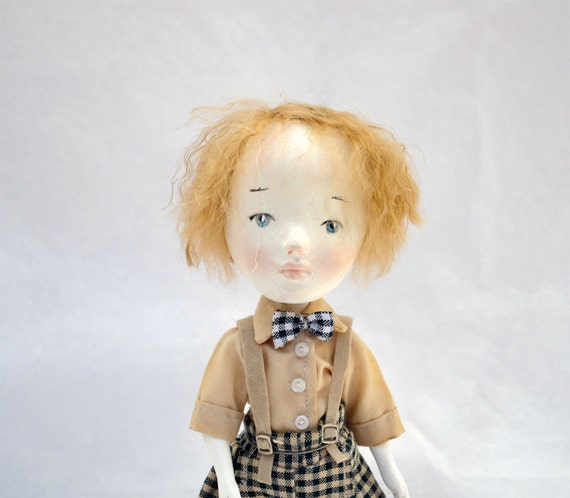 Sale-Art Doll- Felipe, OOAK-Original sculpted by Paola Zakimi