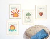My Sunshine Collection, Childrens Wall Art, Nursery Wall Art, Kid's Art, Kid's Decor, Gender Neutral Nursery, Na