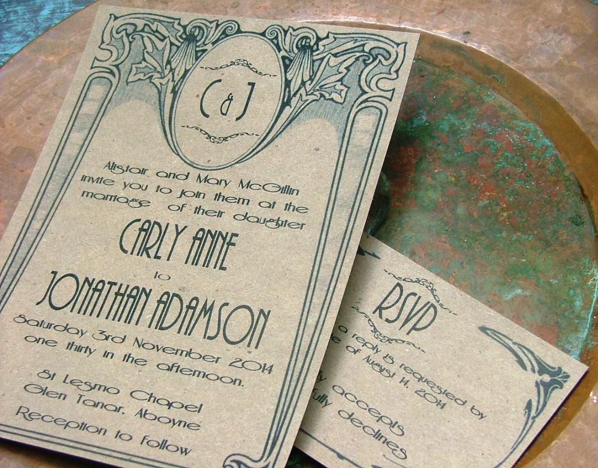 Artist Wedding Invitations