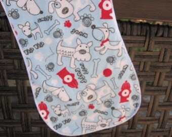 Playful Puppy , dog  burp cloth