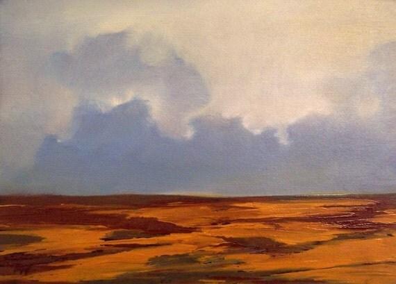 50% discount coupon, Memory, original oil landscape painting, charity, 5x7, landscape, hills, trees