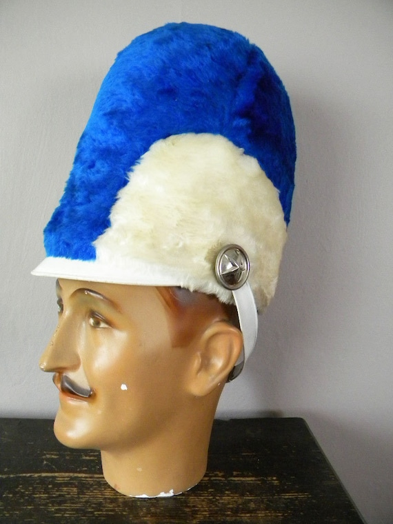 Vintage Tall Furry Marching Band Hat