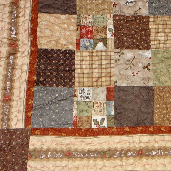 Winterberry Lane lap quilt