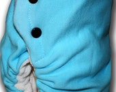 Black and Blue - Toddler Organic Bamboo Fleece/Velour BedBug Plus Night Time Cloth Diaper