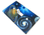 Outer Space Bedroom Decor Light Switch Cover Kids Wall Art Decoration Outerspace Galaxy Saturn 1661
