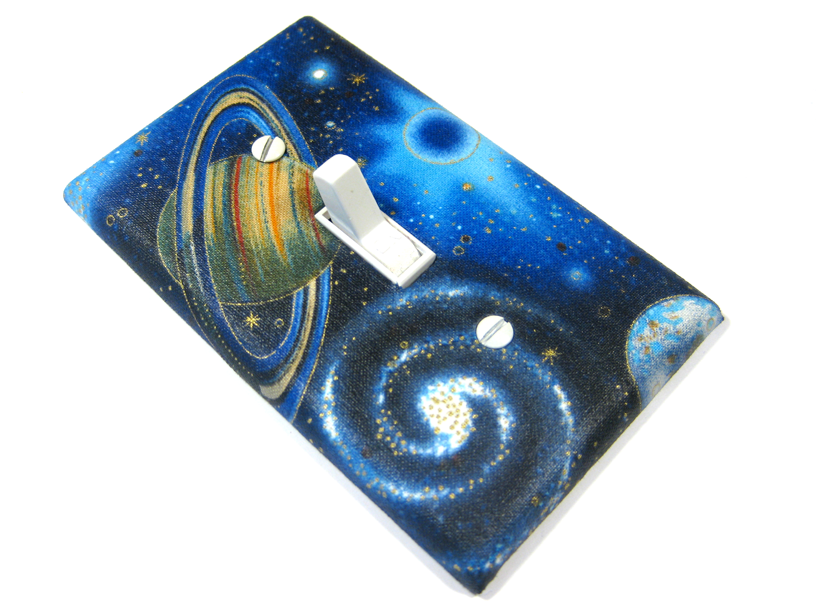 Outer space bedroom decor light switch cover kids by for Decor outer space
