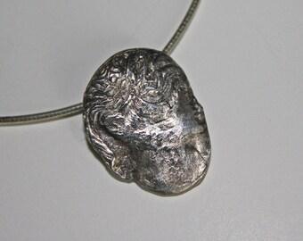 Precious metal clay Cameo pendant