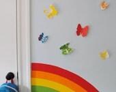 Butterfly Wall Art,  modern nursery decor, kids room wall art, butterflies, custom butterflies, custom wall art, baby shower gift
