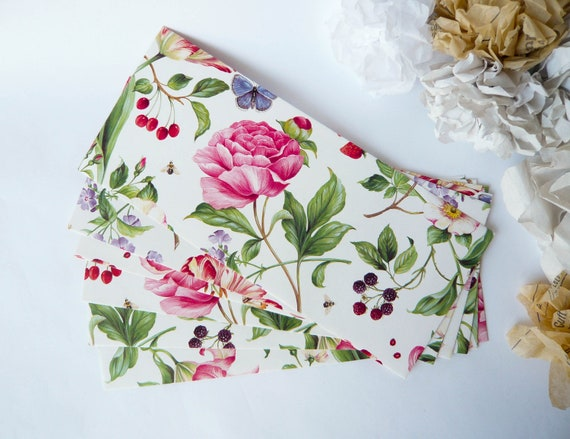 English Floral Envelopes Size - Legal / Letter