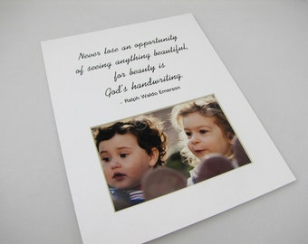 Never Lose An Opportunity  8 x 10 Picture Frame Photo Mat Design M69