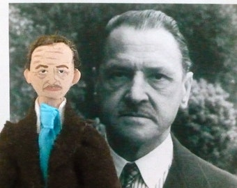 W. Somerset Maugham Miniature Art Author Collectible