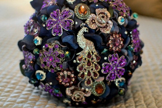 Reserved for Jessamyn -- remaining balance on brooch bouquet