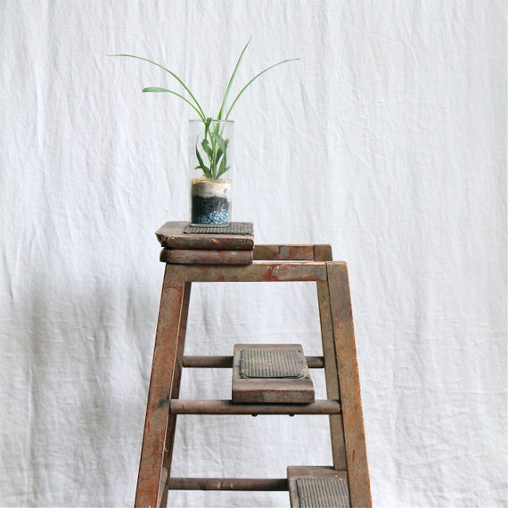 Vintage Industrial Kitchen Step Stool