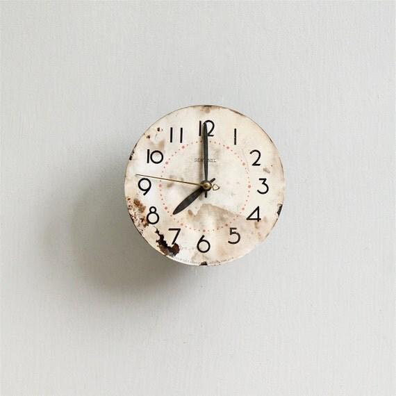 Vintage Sentinel Clock Face / Industrial Decor