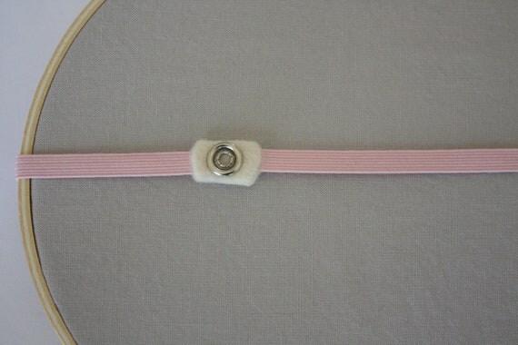 Interchangeable Elastic Headband 1/4 Inch Baby Pink
