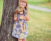 Matching Girl And American Girl Doll Bitty Baby Pillowcase Dress You Choose Fabric Sizes 18mo, 2, 3, 4, 5, 6, 7, 8 or 10