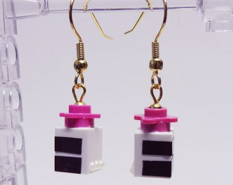 Mini Chocolate Cake Slice Dangle Earrings