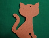 Small Unfinished Mdf Wood Kitty Cat Ornament or embellishment