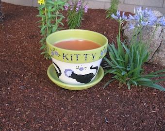 Kitty Flower Pot