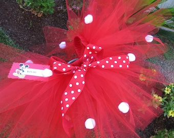 Red Minnie Mouse Tutu